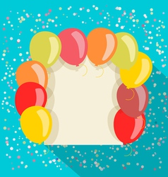 balloons card vector image vector image