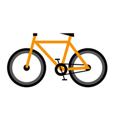 bike icon on isolated background vector image vector image