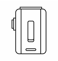 Box mod e-cigarette icon outline style vector