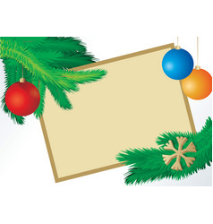 Christmas fir picture vector