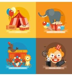 Circus flat set vector
