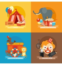 Circus Flat Set vector image vector image