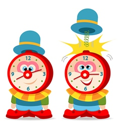 clown alarm clock vector image