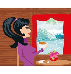 coffee break vector image vector image