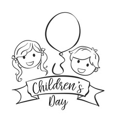 Collection style childrens day hand draw vector