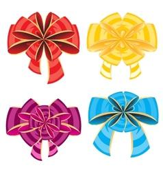 Colour bows vector image