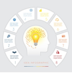 Conceptual idea infographics eight positions vector