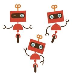 Cute little robot characters vector
