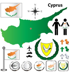 Cyprus map vector image