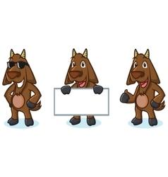 Dark Brown Goat Mascot pose vector image vector image