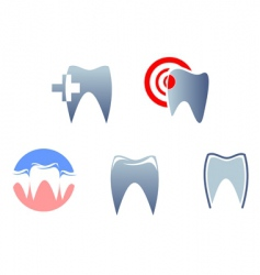 dental signs vector image