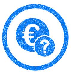 Euro status rounded grainy icon vector