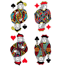 four jacks french inspiration without cards vector image vector image