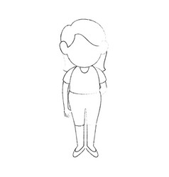 girl stand up vector image