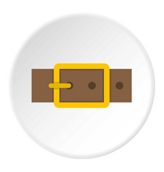 Gold square buckle icon circle vector