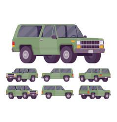 Green offroad set vector