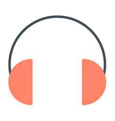 headphones silhouette icon vector image vector image