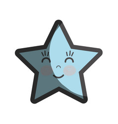 Kawaii happy and cute star design vector