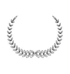laurel wreath winner sport decoration vector image vector image
