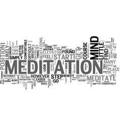 Learn how to meditate text background word cloud vector