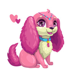 Little cute dog with long ears vector