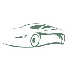 Modern car silhouette vector image vector image