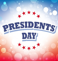 Presidents Day USA card on celebration background vector image vector image