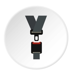 Seat belt icon flat style vector image