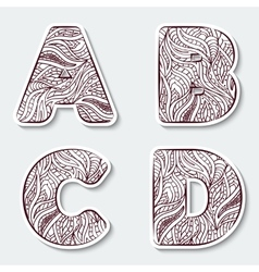 Set of capital letters a b c d from the alphabet vector