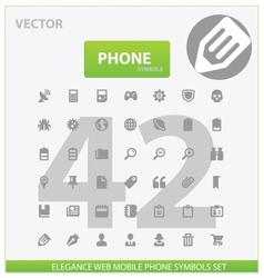 Web and phone universal outline icons vector image vector image