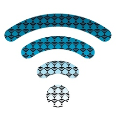 Wifi wireless hotspot internet signal symbol icon vector