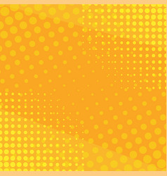 yellow side hatch with halftone effect vintage vector image