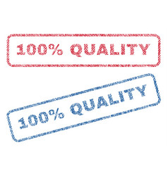 100 percent quality textile stamps vector
