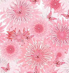 Seamless texture with delicate flowers floral vector