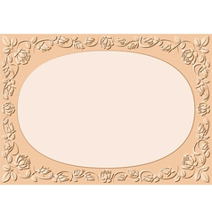 peach-colored background vector image