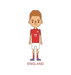 National england soccer football player vector