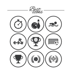 sport games fitness icon football tennis vector image