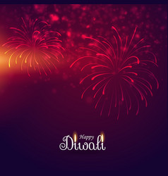 Beautiful display of firework celebration vector