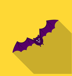 bat icon in flate style isolated on white vector image