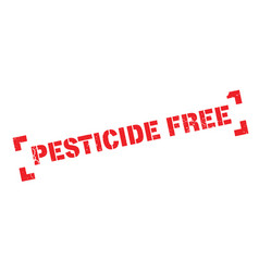 Pesticide free rubber stamp vector