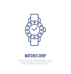Watches with diamonds wristwatch vector