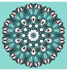 Colorful circle flower mandala background in light vector