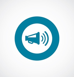 Loudspeaker icon bold blue circle border vector