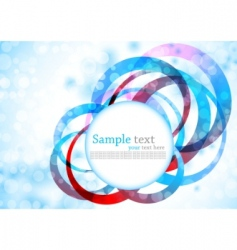 background with circles colorful background vector image