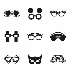 Glasses icon set vector