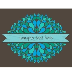 Blue ribbon with decoration vector