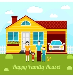 Happy family house concept - couple vector