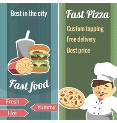 Fast food vertical banner set vector