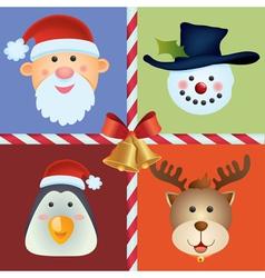 christmas icon ornament vector image