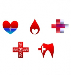 Medicine icons and signs vector